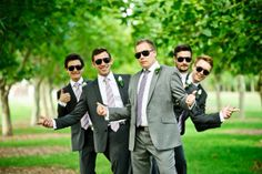 The groom and his men, bein' cool.