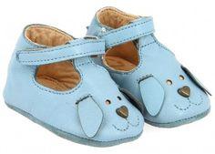 chaussons bébé Loulou Chien azur p17-23