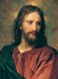 Painting of Jesus by Heinrich Hoffmann, sometimes called Christ at 33, a detail of a painting called Christ with the rich young man.