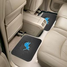 Detroit Lions Rear Floor Mats Rubber Mat Set