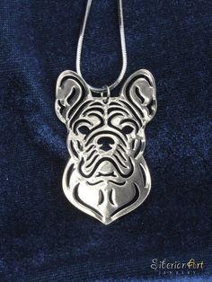 French Bulldog jewelry  silver dog jewelry  by SiberianArtJewelry, $75.00