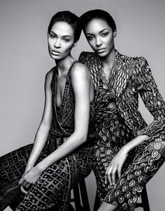 Joan Smalls, Jourdan Dunn by Patrick Demarchelier for W Magazine February 2014