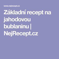 Základní recept na jahodovou bublaninu | NejRecept.cz