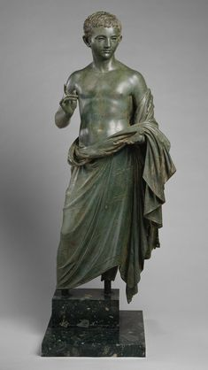 Bronze statue of an aristocratic boy  | 27 B.C- 14 A.D | Roman | Metropolitan Museum of Art, New York | It wasn't until Augustus' new golden age that significant, imperial portraits of children began to be produced to underscore the dynastic aspirations.