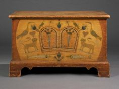 A Rare and Important Pennsylvania-German Decorated Chest, Related to Work Done by Daniel Otto, Pennsylvania, 1815.