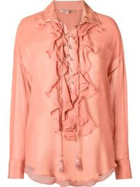 Camisa Babados Rosé