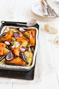 roasted veggies with herbs