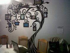 Ideas family tree painting on wall hallways Family Tree Photo, Picture Tree, Family Tree Wall, Family Trees, Photo Tree, Picture Ideas, Photo Ideas, Tree Wall Decor, Tree Wall Art