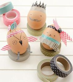 Bring your Easter eggs to life this year: all you need are a pen, some washi tape, and a little imagination — Happy Hunting!