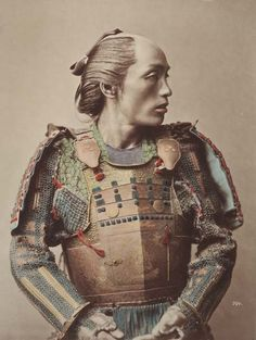 A photograph of a samurai ca. 1870 from the Peabody Museum Collections.