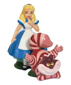Take a look at this Alice & Cheshire Cat Salt & Pepper Shakers by Westland Giftware on #zulily today!