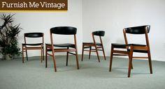 Danish Modern Dining Chair Set | Danish Teak Classics | Danish