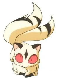 Kirara, Sango's two-tailed cat-demon - screenshot from InuYasha ...