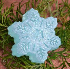 Sparkling Snowflake Holiday Soap. $4.50, via Etsy.