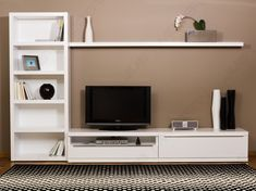 Tv bookcase wall unit plans bookcase tv stand combo residence designs furniture shops in manila build . Tv Rack Design, Tv Cabinet Design, Storage Design, Shelf Design, Stand Design, Media Cabinet, Bookcase Tv Stand, Bookshelves With Tv, Bookcase Wall