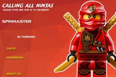 Cool Free Printable Lego Ninjago Birthday Invitation