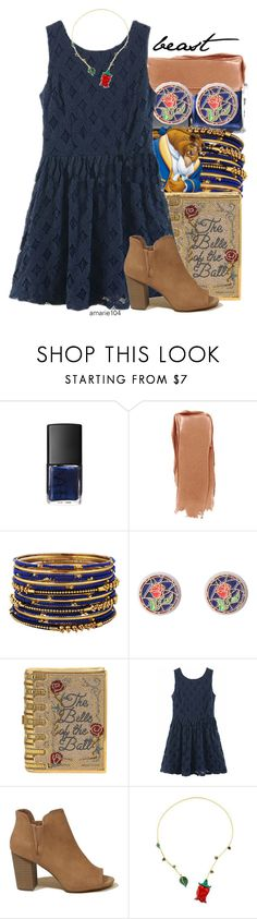"""Beast"" by amarie104 ❤ liked on Polyvore featuring Forever 21, Disney, Judith Leiber, Hollister Co. and Alison Lou"