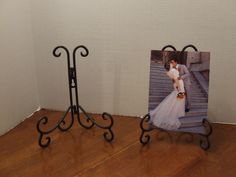 Wall Plate Holder, Picture Holder, Metal Recipe Book Holder, Letter Holder, Wall Mount or Table, Wall Plate, Black Wrought Iron Hanger, Gift by BeautyMeetsTheEye on Etsy