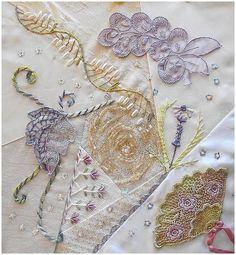 embroidery crazy quilt | & Crazy Quilt / I crazy quilts . . . June - CQJP Crazy Quilting ...