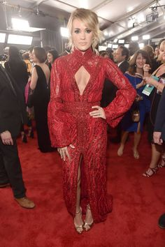 The best looks from the 59th Annual Grammy Awards: Carrie Underwood