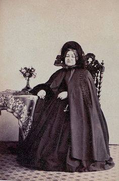 "Deepest Mourning, English Albumen Carte de Visite, Circa 1864.  ""F. S. Mann, Photographic Artist, 13 Wellington Place, Hastings"""