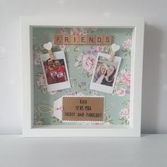 Friends Gift/ Scrabble Frame/ Gift For Her/ by DitsyLaneCrafts