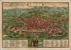 Roma    Map Maker: Georg Braun  &   Franz Hogenberg    Place / Date: Cologne / 1572