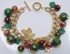 My Handcrafted Holiday/Christmas Charm Bracelet (2)