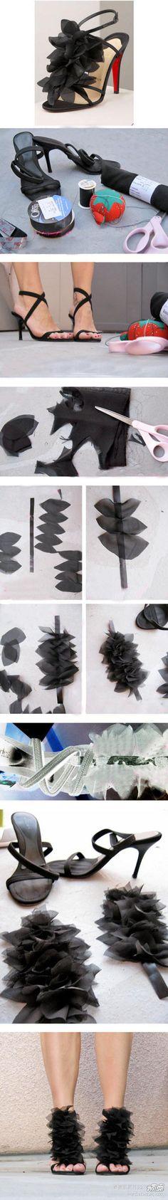 DIY Petals High Heels