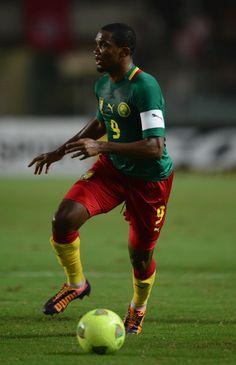 Samuel Eto'o con la maglia della sua nazionale(Camerun)