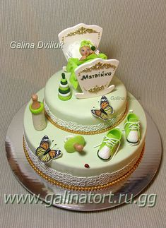 Торт малыш в колыбельке. На крестины или детский торт на годик. Детские тортики для вашего малыша на 2 года на день рождение, мальчику на 5лет или для девочки постарше – изысканное украшение вашего праздника. | Дитячі торти на на хрестини, на 1 рочок чи на день народження Галина Двілюк, сайт Торти від пані Галини #тортики #тортнаденьрождения #тортдлядевочки #тортдлямальчика Cake, Desserts, Birthday, Pie Cake, Tailgate Desserts, Pie, Deserts, Cakes, Dessert