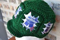 Finished this beer can hat last night - turned out pretty nice!
