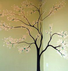 dark brown flat paint family tree family tree wall pinterest