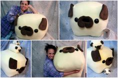 GIANT PUG loaf pillow