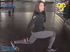 Lunge It Out! Work lower body and improve stability with the forward to backward lunge. Check out the video!