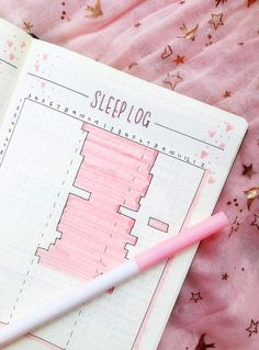 Pretty bullet journal sleep tracker idea from ig@the.pretty.planner. What are your creative bullet journal ideas?