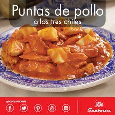 Puntas de Pollo a los Tres Chiles