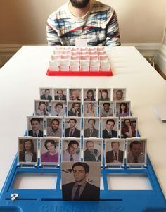 Guess Who Game Templates DIY Guess Who Game Templates - The Office, Gilmore Girls, Harry Potter and Parks and Rec.DIY Guess Who Game Templates - The Office, Gilmore Girls, Harry Potter and Parks and Rec. Office Themed Party, Office Party Games, Office Parties, Birthday Board, Friend Birthday, Happy Birthday, Humor Birthday, Diy Birthday, Birthday Quotes