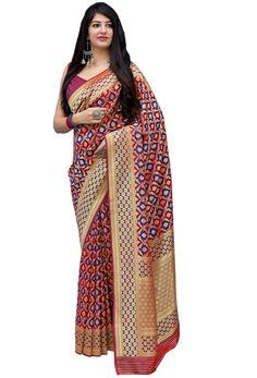 Shop red,violet banarasi satin saree , freeshipping all over the world , Item code New Saree Designs, Satin Saree, Embroidery Saree, Work Sarees, Art Silk Sarees, Latest Sarees, Indian Weddings, Every Woman, Uae