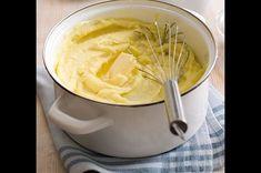 Základní bramborová kaše   Apetitonline.cz Icing, Potatoes, Desserts, Food, Tailgate Desserts, Deserts, Potato, Essen, Postres