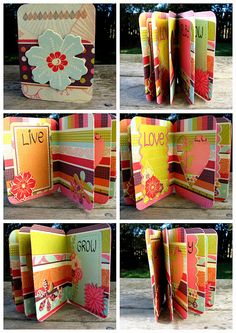 Mini-album made with one sheet of paper! Great tutorial, too!