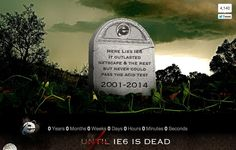 IE6 Countdown to Death  (via http://www.ie6death.com/ )