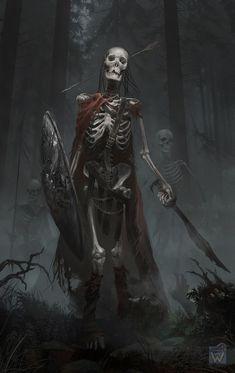 Headshot the Skeleton warrior Fantasy Warrior, Fantasy Rpg, Medieval Fantasy, Dark Fantasy Art, Fantasy Artwork, Fantasy Monster, Monster Art, Arte Horror, Horror Art