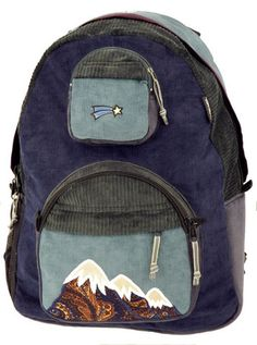 Our most popular backpack ever! A big daypack; all in corduroy, heavily re-enforced with durable synthetic inner liners (like we say, you can't really make a 'natural fiber' artesanal backpack that ca