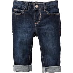Old Navy Boyfriend Skinny Jeans For Baby Size 18-24 M - Dark denim ($15) ❤ liked on Polyvore featuring baby, baby girl y kids