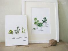 Any FOUR Succulents - 8'x11.5' Fine Art Prints. $68.00, via Etsy.