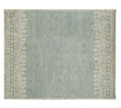 DESA RUG - BLUE from Pottery Barn -How cute would this be in a little girls room?