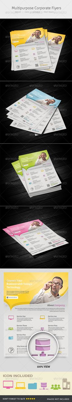 Multipurpose Flyer — Photoshop PSD #product #corporate • Available here → https://graphicriver.net/item/multipurpose-flyer/5410328?ref=pxcr