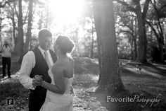 First Dance | Black & White Photo  | Florida Country Wedding Photographers | © Favorite Photography