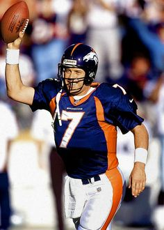 John Elway #7 (QB) Led the Broncos to titles in 1997 and 1998.  Led Denver to a record 47 fourth-quarter comebacks.